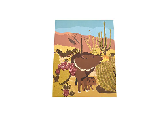 Print | Southwest Javalina | Tucson Option