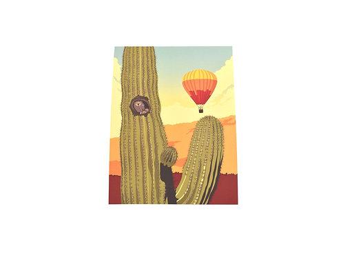 Print   Southwest Owl   Tucson Option
