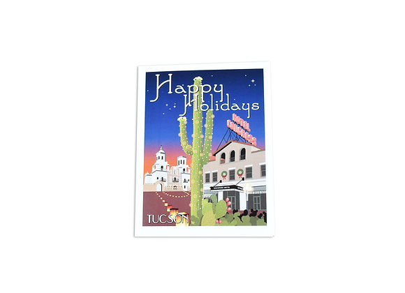 VEN | Happy Holiday Note Card | Hotel Congress | Mission | Tucson