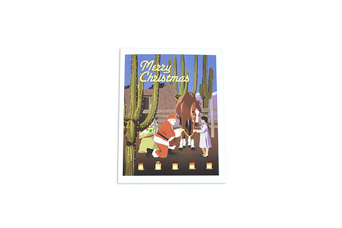 VEN | Merry Christmas Note Card | Gift Horse | Tucson