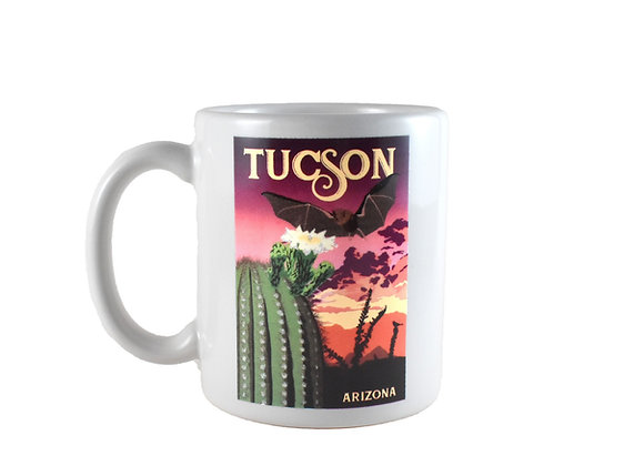 Mug | Saguaro Cactus |  Desert Bat
