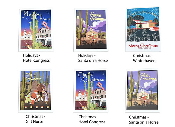 VEN | Boxed Set | Holiday/Christmas | 5 Note Cards | Tucson
