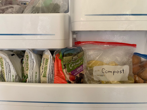Composting Tip:  Use your Freezer!