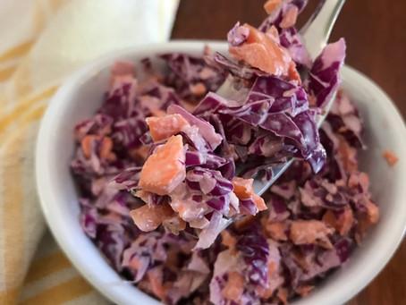 Purple Cabbage Coleslaw