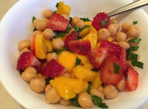 Kid Friendly Garbanzo Bean Salad
