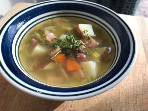 Nourishing Ham and Potato Soup