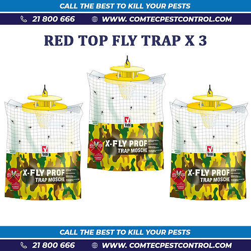 Red Top Fly Traps Combo