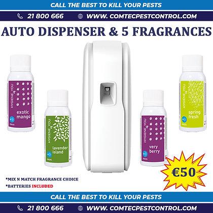 Auto Dispenser + 5 x 75mL Fragrances (COMBO OFFER)