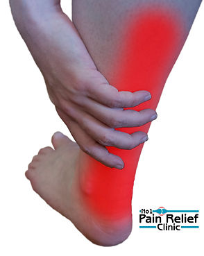 Achilles tendon hand on leg pain