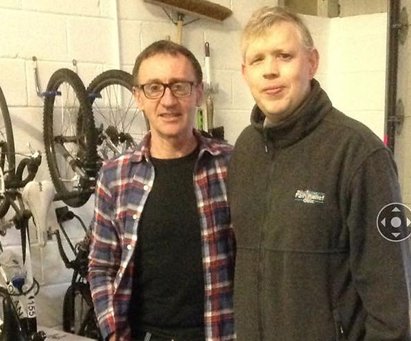 Nick Mulryan Working with pro cyclist Martin Earley Tour de France Stage winner