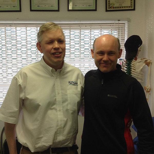 Iain Dawson, Paratriathlon visiting The No1 Pain Relief Clinic