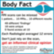 Body Fact - MRI scans