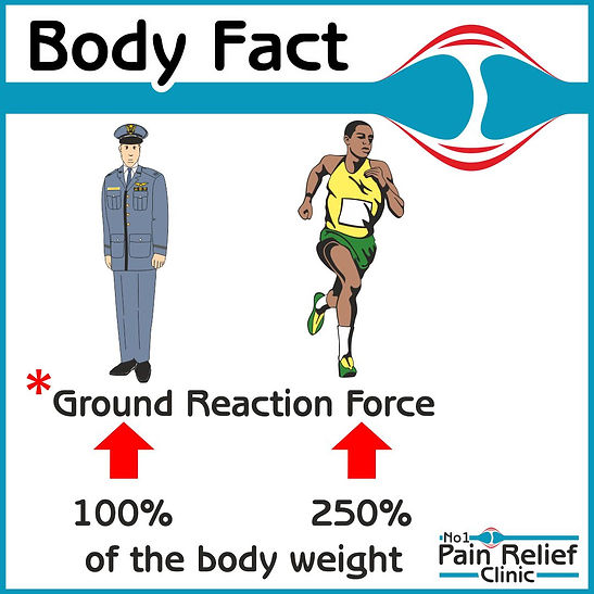 Body Fact about ground force when running