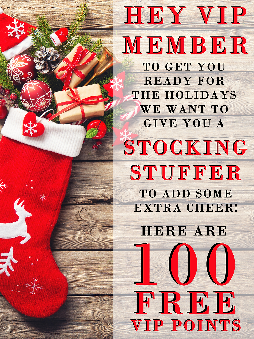 Cannabis Loyalty Instant Points Stocking Stuffer MMS