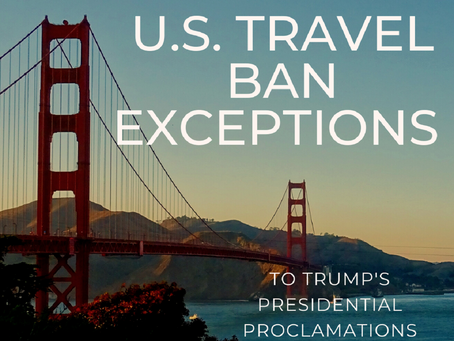 Exceptions to the Travel Bans under the National Interest Exception (NIE)