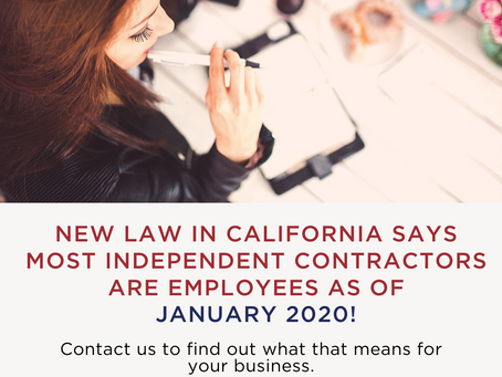 What You need to Know about Converting Independent Contractors to Employees under California AB-5
