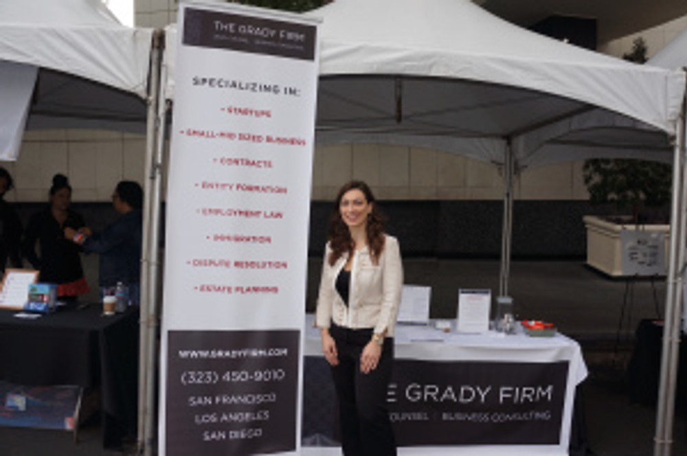 Booth at Be Great Fest in Los Angeles