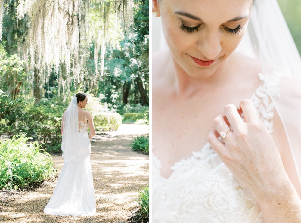 a destination wedding bride at st simons island