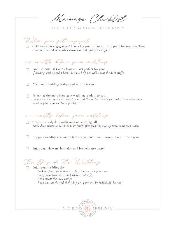 The unusual wedding plannig checklist
