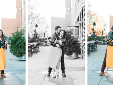 Rachel + Nathan | Engagement Session at Westside Provisions Atlanta | Glorious Moments Photography
