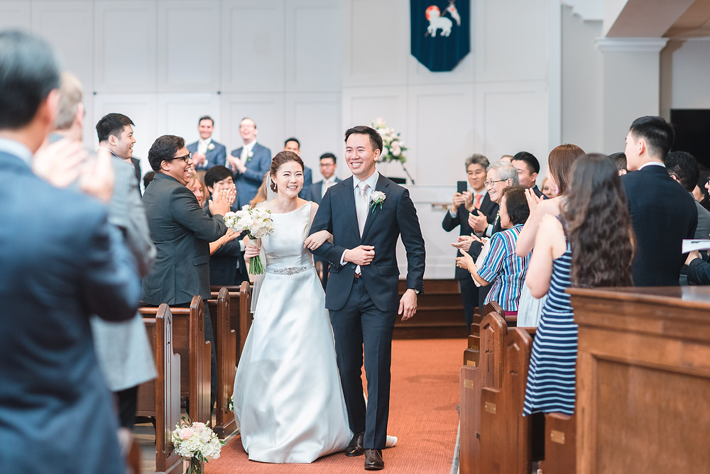 when you're announced as a husband and wife youre so happy at wesleyan school