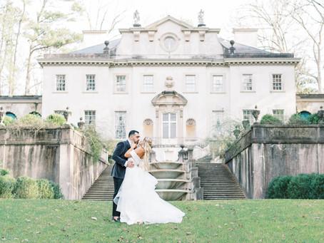 A Contemporary Atlanta History Center Intimate Wedding   Glorious Moments Photography