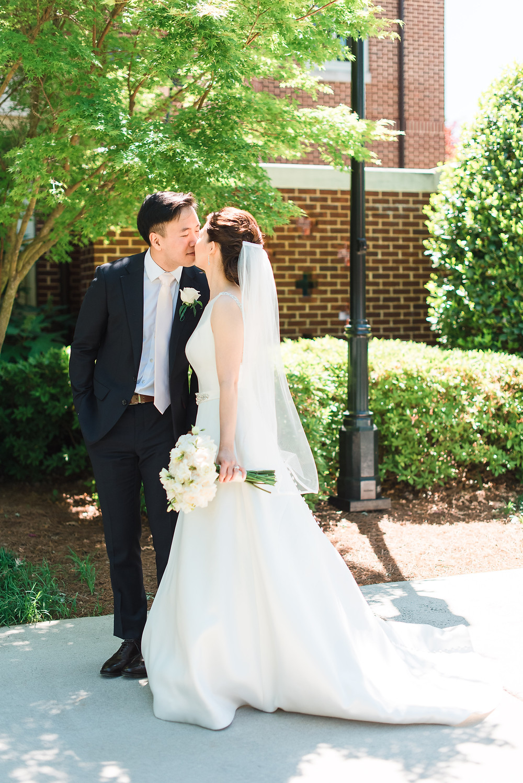 a korean couple getting married at wesleyan school alpharetta