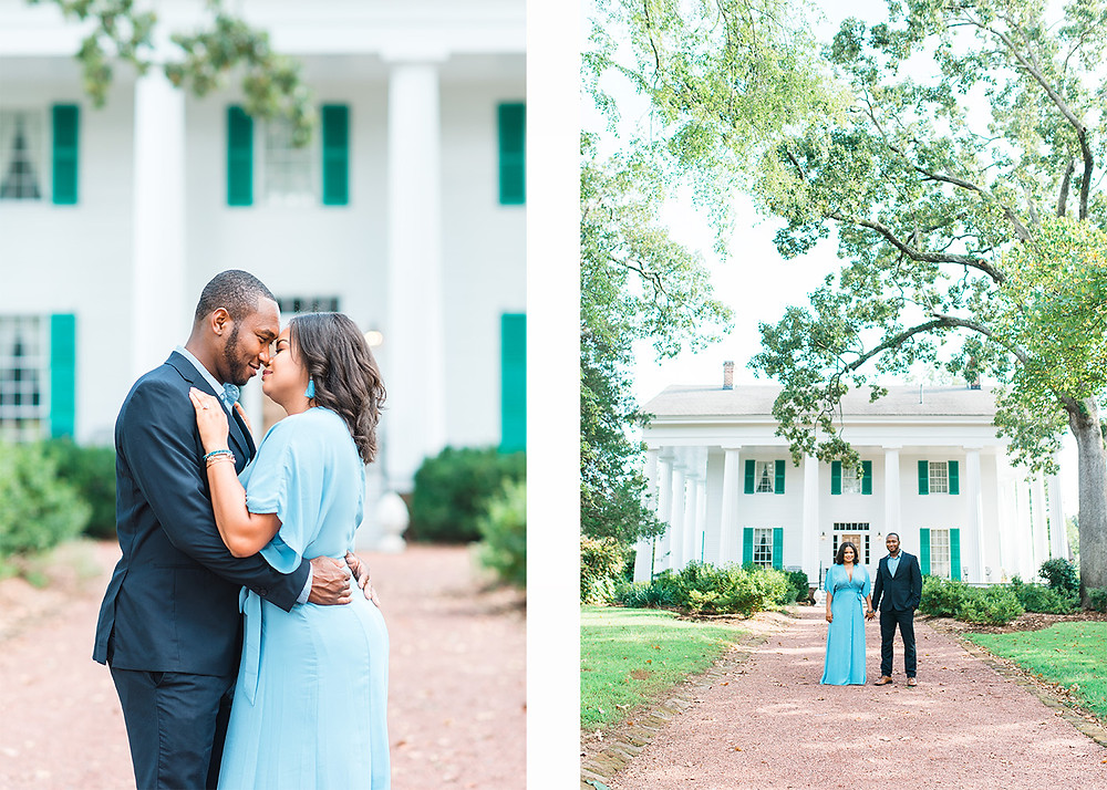 beautiful downtown roswell engagement session