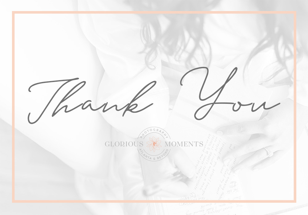 how to thank your atlanta wedding photographer after an outstanding experience