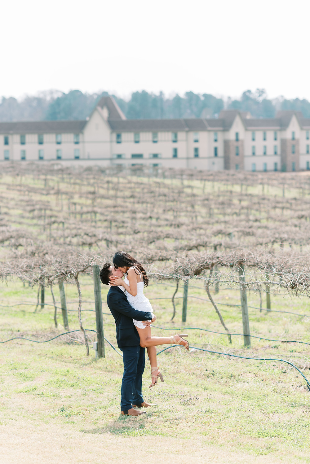 A ROMANTIC Surprise Chateau Elan Proposal guy propose to girl with rose petals everywhere
