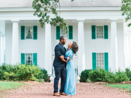 Victoria and Gerald | Beautiful Downtown Roswell Engagement Session