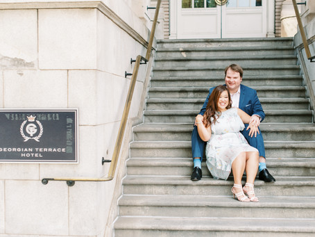 Christie and Eric | Georgian Terrace Hotel Engagement Session