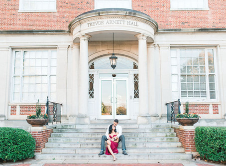 Michelle + Michael|A Fall Downtown Atlanta Engagement Session at Clark University|Glorious Moments