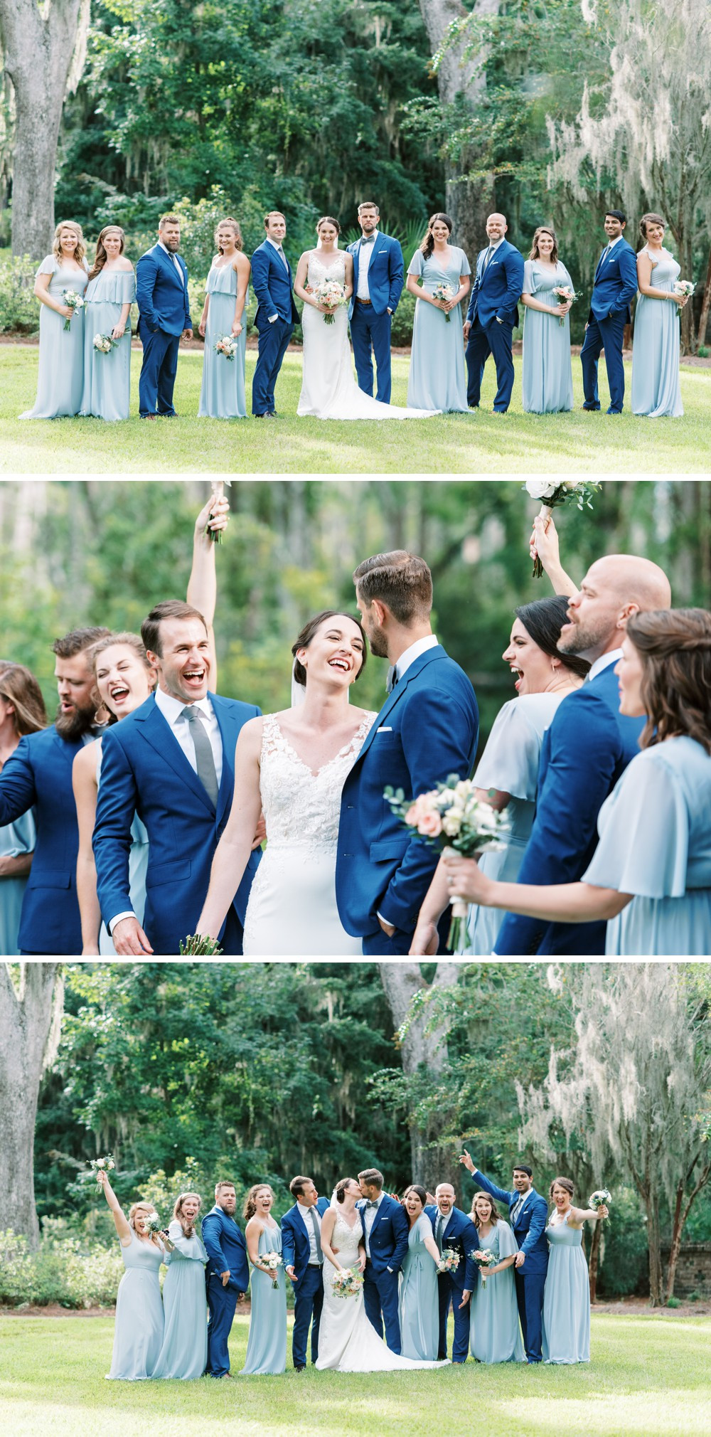 bridal party portraits at wesley methodist church st simons island destination wedding