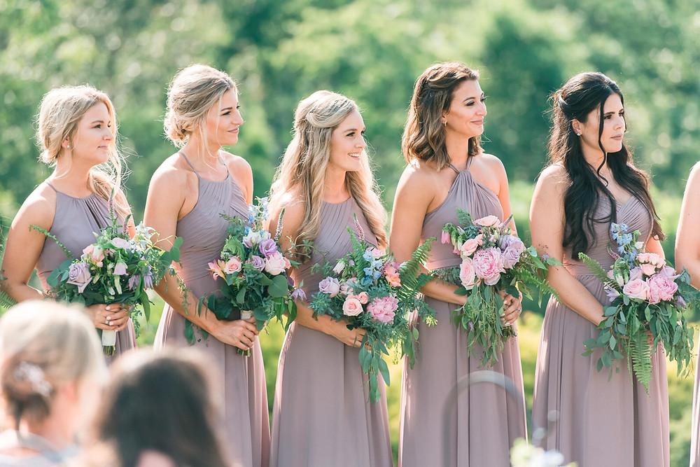 blue mountain vineyard dahlonega wedding venue-glorious moments photography-atlanta wedding photographer-vineyard mountain view- lavender bridesmaids dress