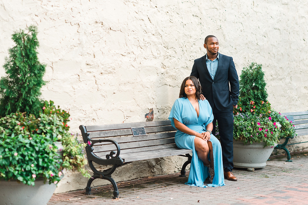 beautiful couple in a beautiful wedding day in downtown roswell