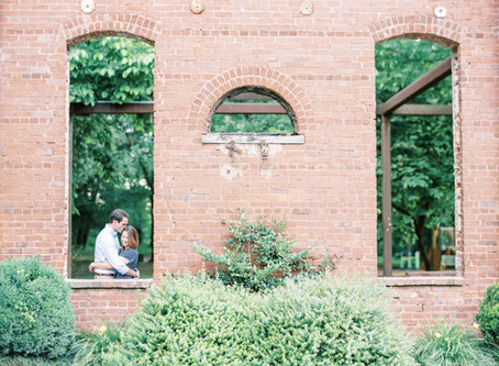 Julia + Russell | Whittier Mill Park Engagement Session | Marietta Engagement Session