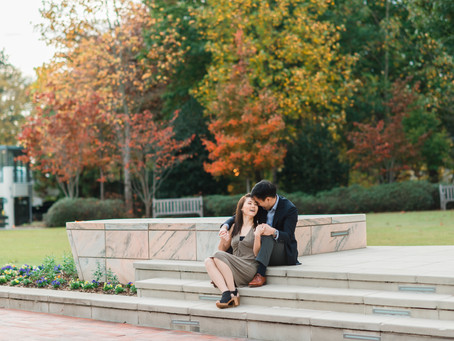 Rebecca and Jonathan | A Fall Engagement Session at Emory University | Glorious Moments Photography