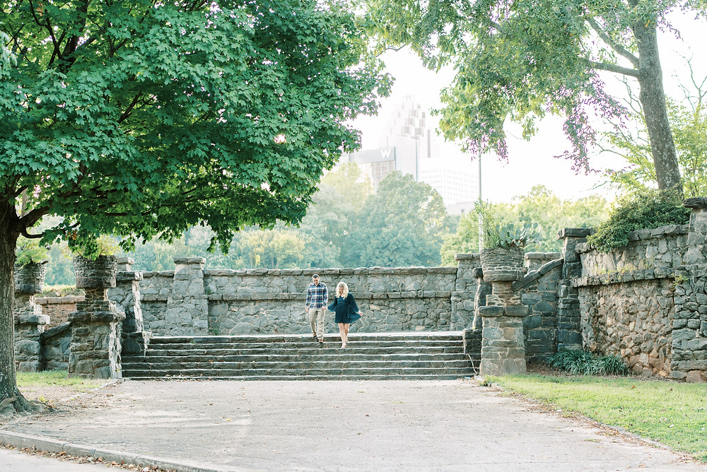 fall engagement session at piedmont park guy and girl met while playing soccer