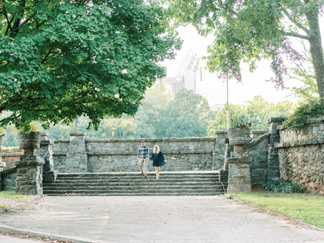 Meghan and Kevin | Fall Engagement Session at Piedmont Park