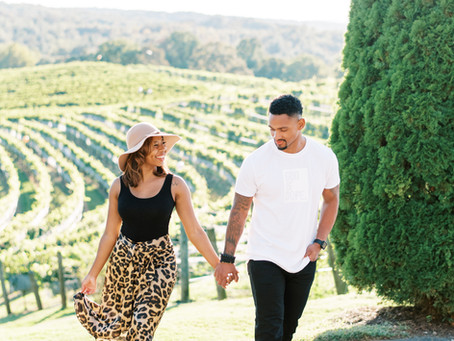 A Romantic Fall Engagement Session in The Napa Valley of of The South | Nate and Roxii