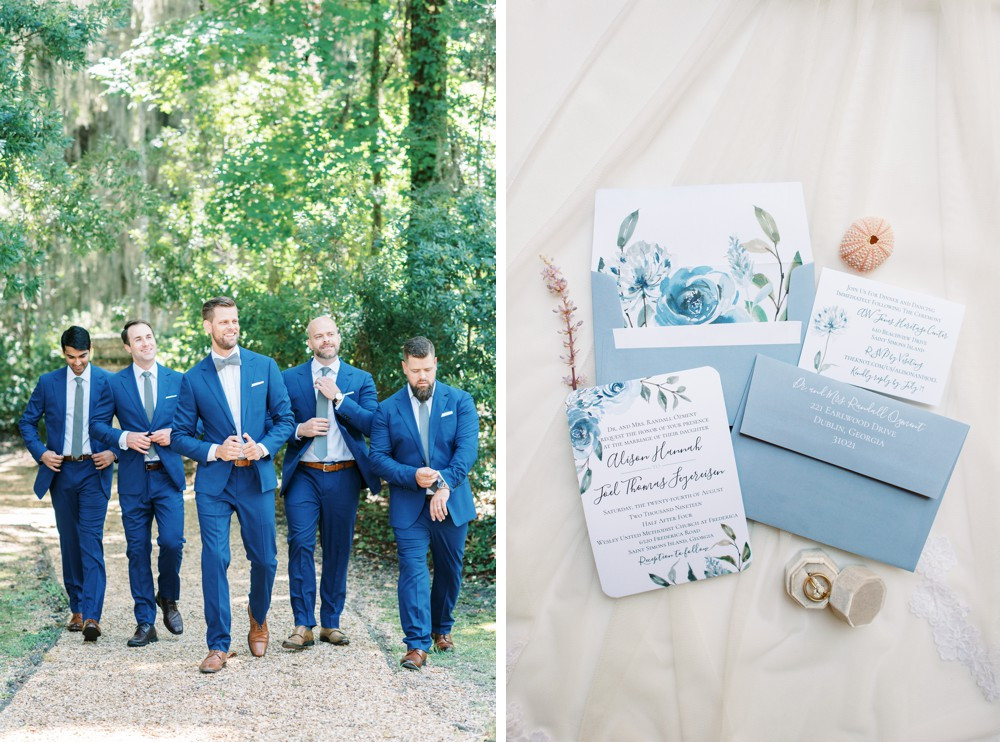 groomsmen navy blue at st simons island wedding