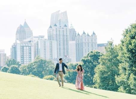 Hanna + Mike | Piedmont Park Engagement Session Atlanta | Glorious Moments Photography