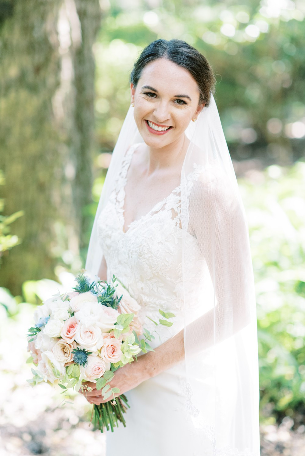 a bridal portrait at wesley methodist church st simons island