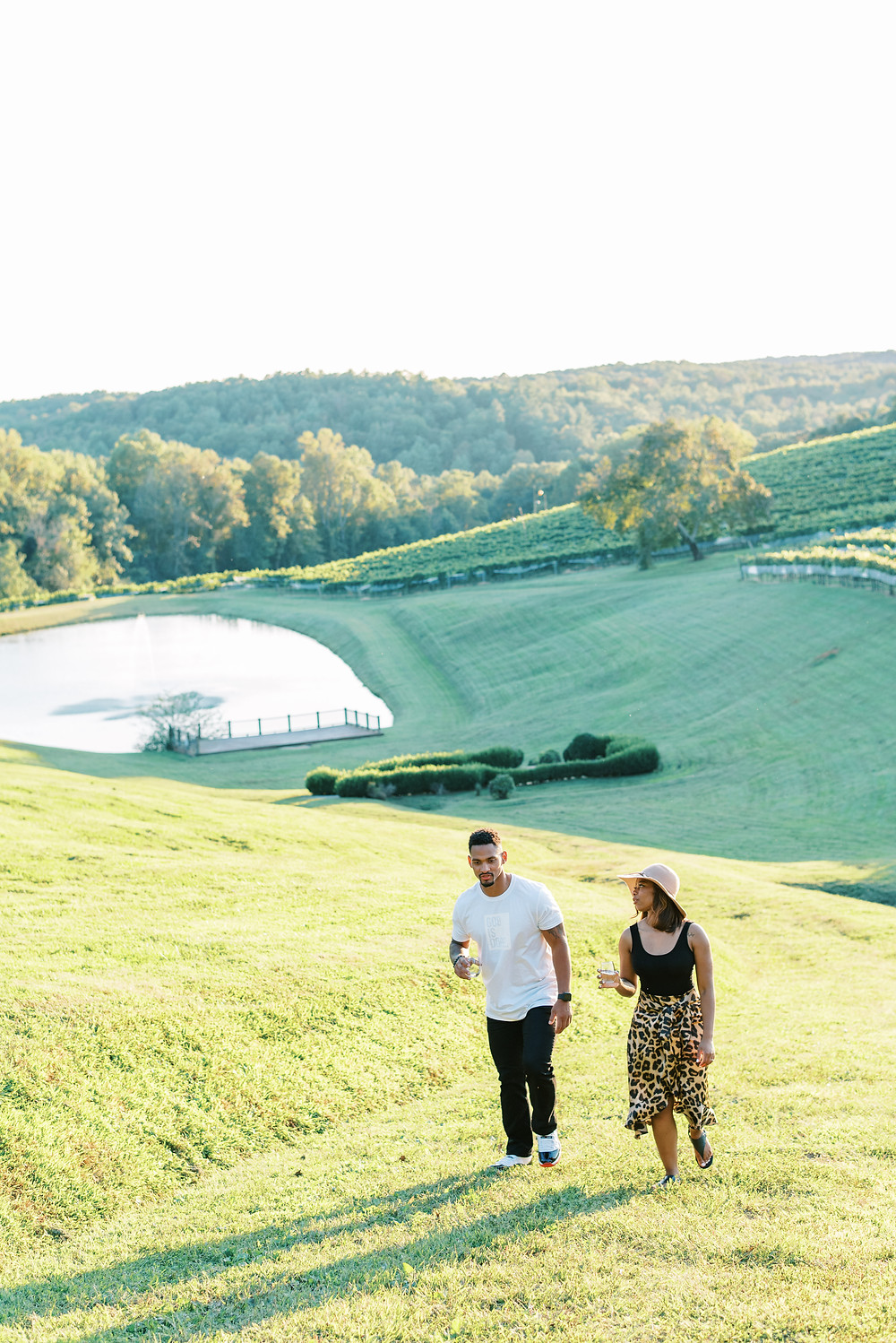 A Romantic Fall Engagement Session in The Napa Valley of of The South