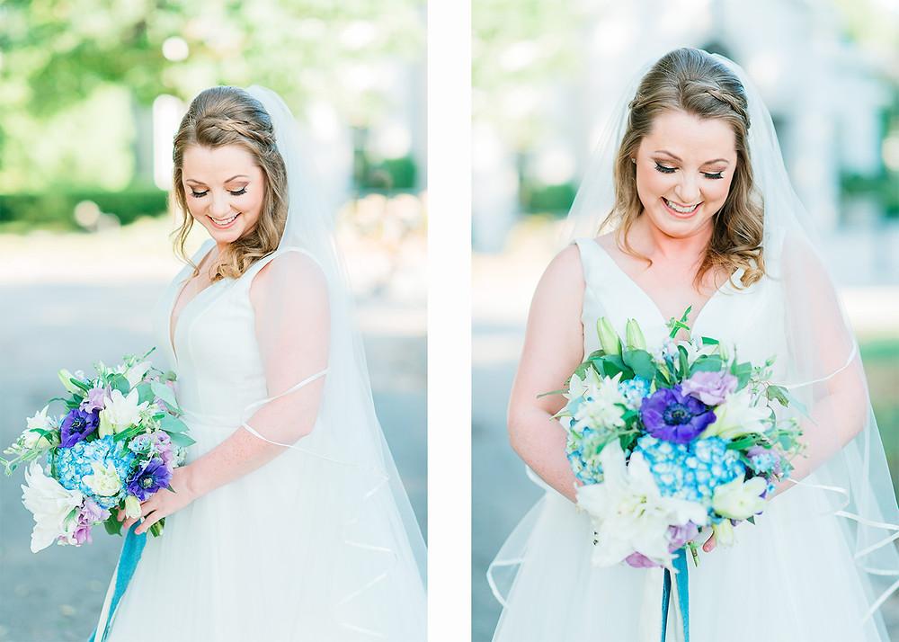 beautiful couple just got married at Piedmont Park, Atlanta, Georgia