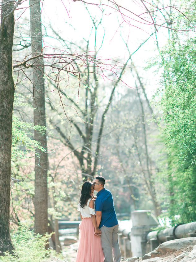 downtown roswell engagement session