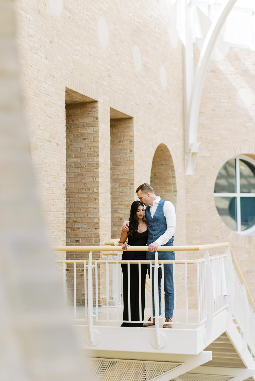 engagement session at fernbank museum