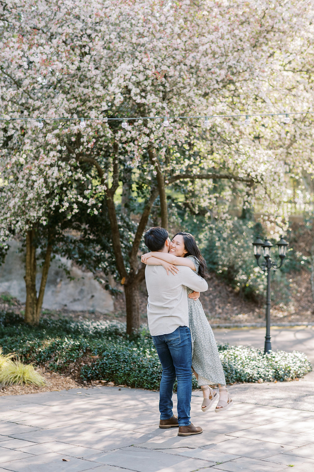 A Whimsical Cator Woolford Garden Engagement Session in the Spring