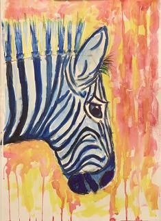 Zebra watercolor - sd7